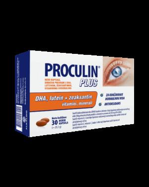 Proculin Plus, 30 Mekih Kapsula, S Dha I Luteinom, Za Dobar Vid