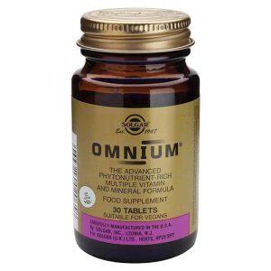 Solgar, Omnium, 30 Tableta, Vitaminsko Mineralni Kompleks