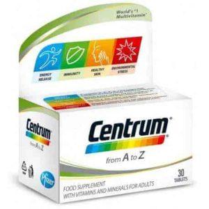 Centrum, A Z, 30 Ili 60 Tableta, Energija, Imunitet, Zdrava Koža I Protiv Stresa