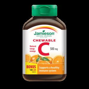 Jamieson, Vitamin C 500mg, 120 Tableta Za Žvakanje S Okusom Naranče