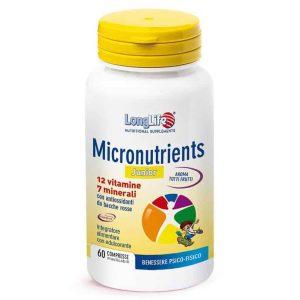 Longlife, Micronutrients, 60 Tableta Za Žvakanje S 12 Vitamina I 7 Minerala
