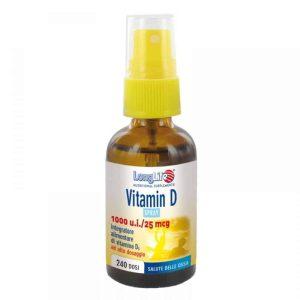 Longlife, Vitamin D 1000 U.i.:25 Mcg, Sprej, 250 Doza