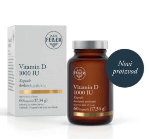 M.e.v. Feller, Vitamin D, 1000 I.j., 60 Kapsula, Za Normalnu Funkciju Imunološkog Sustava