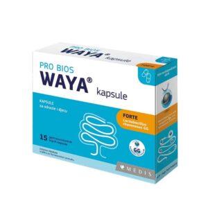 Waya, Forte, 15 Kapsula, Za Uravnoteženu Crijevnu Floru, 2 Godine I Stariji 2