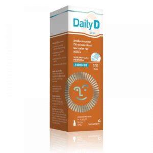 Hamapharm, Vitamin D Daily D, 1000 Ili 4000 I.u., 20ml, Sprej, Okus Maline