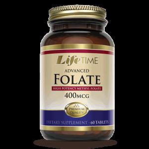 Lifetime Advanced Folate, 400 µg, 60 Tableta S Vitamin B9 (folna Kiselina)
