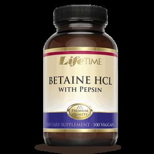 Lifetime Betaine Hcl + Pepsin, 100 Kapsula, Kod Želučanih Problema