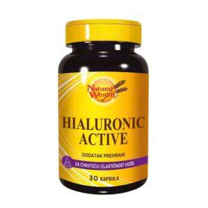Natural Wealth, Hialuronic Active, 30 Kapsula, Za Čvrstoću I Elastičnost Kože
