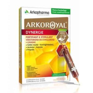 Arkopharma, Arkoroyal Dynergie, 20 Ampula, Energizirajući Kompleks S Matičnom Mliječi, Ginseng, Acerola I Propolis