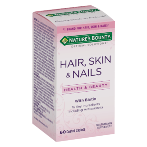 Nature's Bounty, Hair Skin & Nails, 60 Tableta, S Biotinom