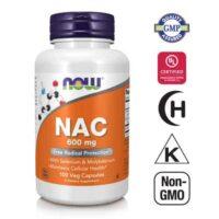 Now Foods, Nac (n Acetil Cistein ), 600mg, 100 Kapsula