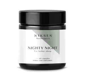 Niksen, Nootropics, Nighty Night, 60 Kapsula, Spoj Bilja I Elektrolita
