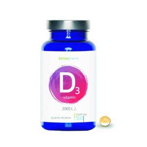Sensapharm, Vitamin D3, 60 Kapsula, Vitamin D I Ulje Lana