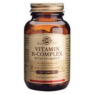 Solgar, B Kompleks S Vitaminom C, 100 Tableta