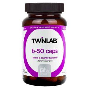 Twinlab, B 50 Kompleks, 50 Kapsula