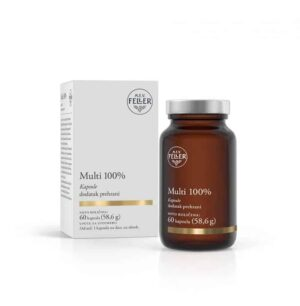 M.e.v. Feller, Multi 100%, 30 Ili 60 Kapsula, 100% Preporučeni Dnevni Unos Vitamina I Minerala