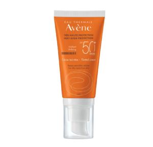 Avene, Sun, Spf50+, Tonirana Krema Za Zaštitu Od Sunca, 50ml, Za Osjetljivu Kožu, Vodootporno