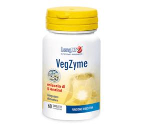 Longlife, Vegzyme, 60 Tableta, Mješavina 5 Probavnih Enzima, Potpora Za Pravilnu Probavu
