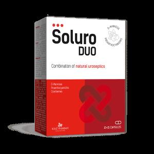 Solé Pharma, Soluro Duo, 30 Kapsula, Infekcije Mokraćnog Sustava, Šumske Brusnice I D Manoza