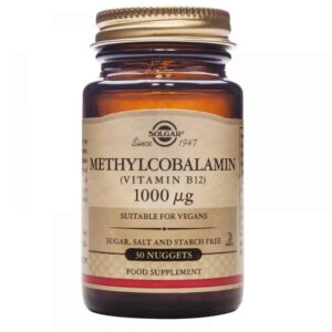 Solgar, B12 Metilkobalamin, 1000mcg, 30 Tableta Za Žvakanje