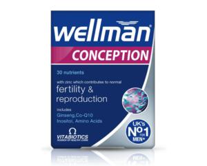 Vitabiotics, Wellman Conception, 30 Tableta, Zdravlje Muškarca, Plodnost I Hormonska Aktivnost