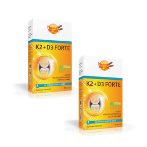 1 + 1 Gratis Natural Wealth, K2 + D3 Forte, 20 Kapsula, Za Čvrstoću Kostiju