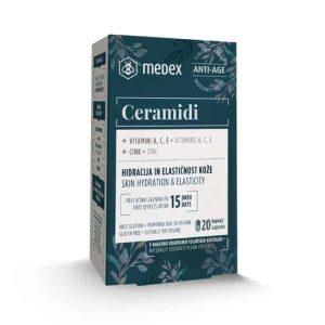 Medex, Ceramidi, 20 Kapsula, Hidratacija I Elastičnost Kože