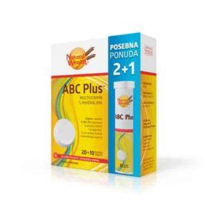 2+1 Gratis Natural Wealth Abc Plus™ ,30 Šumećih Tableta, Smanjenje Umora I Iscrpljenosti